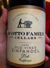 bottle label old vine zin scotto