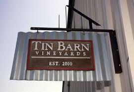 tin barn winery sign